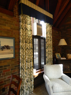 Custom Drapery and Valance in College Residence Hall Living Room