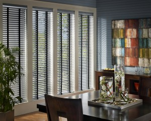 "Hunter Douglas 2"" wide Aluminum Blinds with Decorative Tapes"