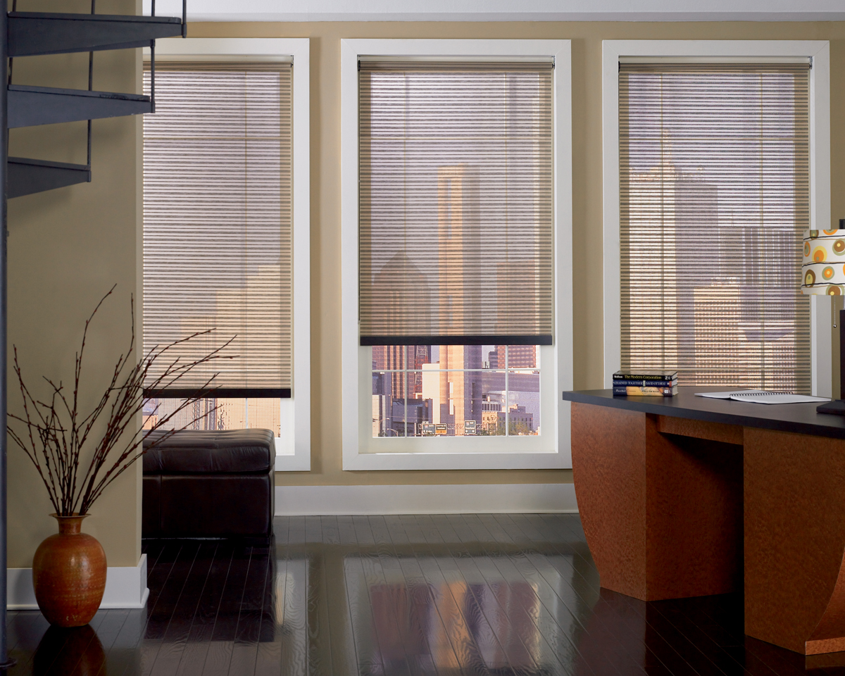 solar shades as a loft window treatment