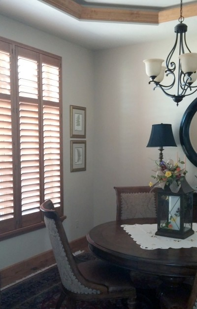 Beautiful Stained Wood Plantation Shutters - Ultra Energy Efficient!