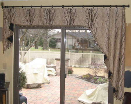 Custom Valance Over Sliding Door