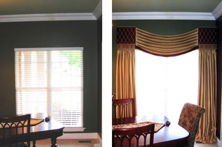 Metro East Custom swag, Panels & Cornices Before & After
