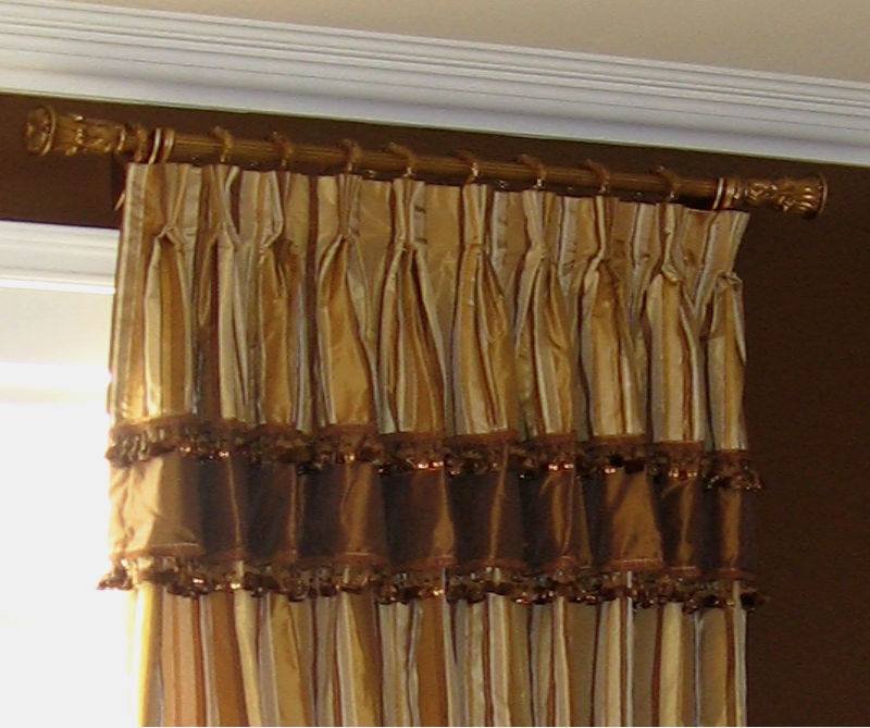 Silk Drapery with Layered and Beaded Valance