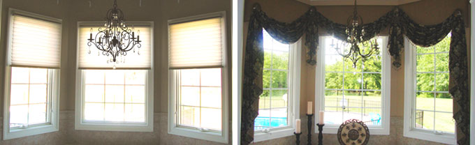 Mt. Vernon IL Master Bath Before & After Custom Valance