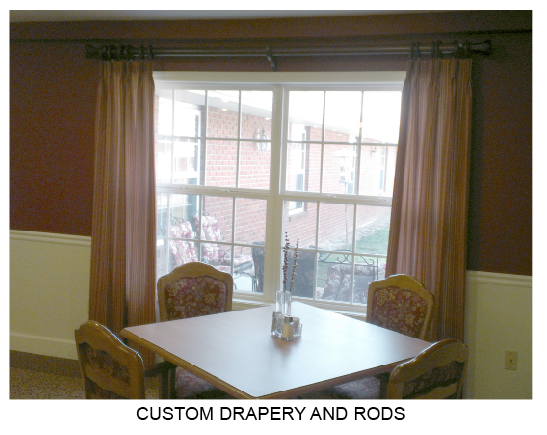 Custom Drapery and Rods