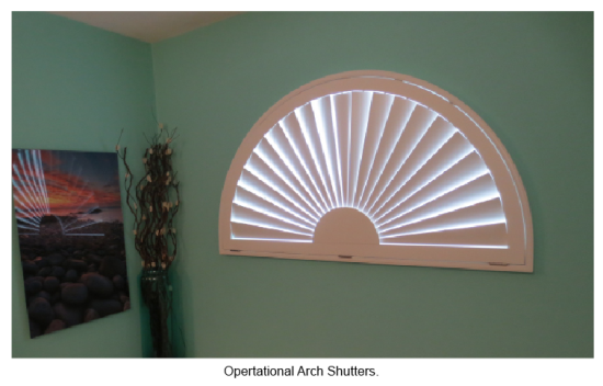 Operational Arch Shutters