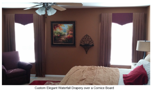 Custom Drapery and Cornice Board