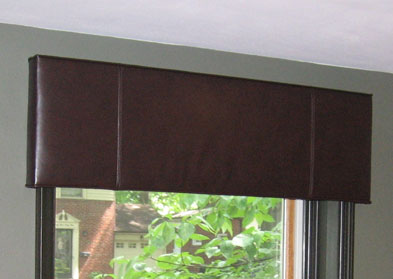 Upholstered Leather Cornice in St. Louis, MO