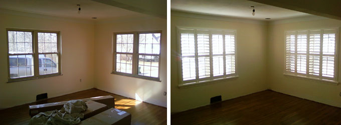West Belleville IL Dining Room Before & After Shutters