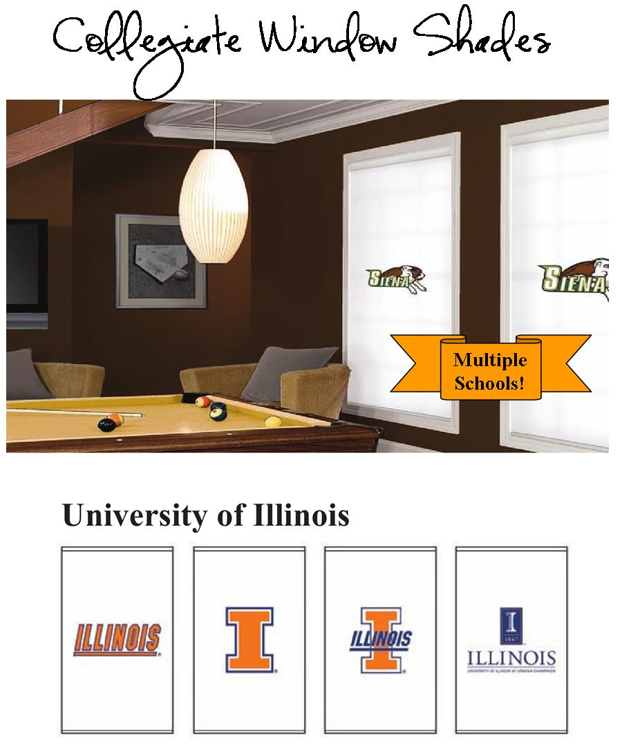 collegiate window shades