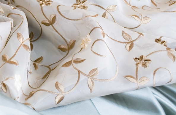 Soft Embroidered Sheer Fabric