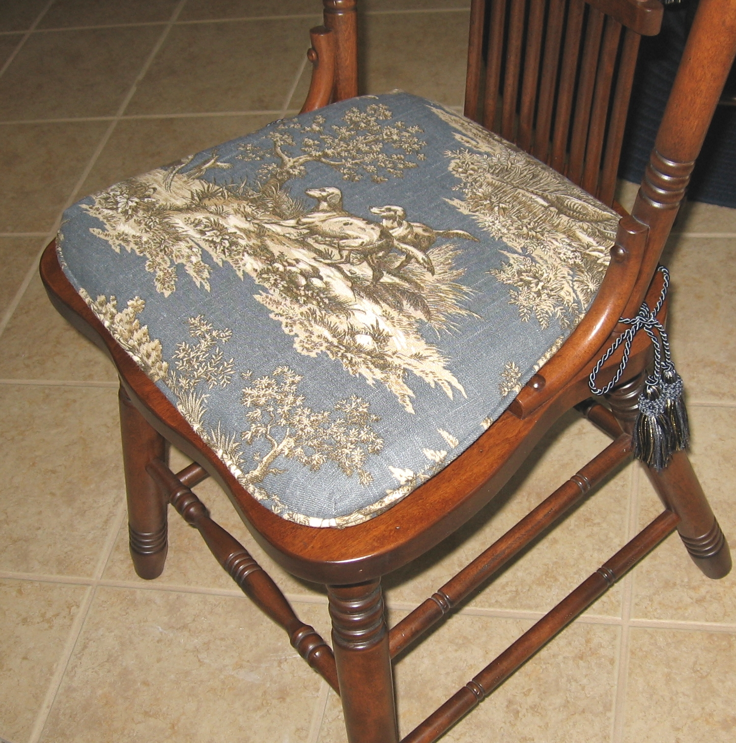 Custom Kitchen Chair Pad